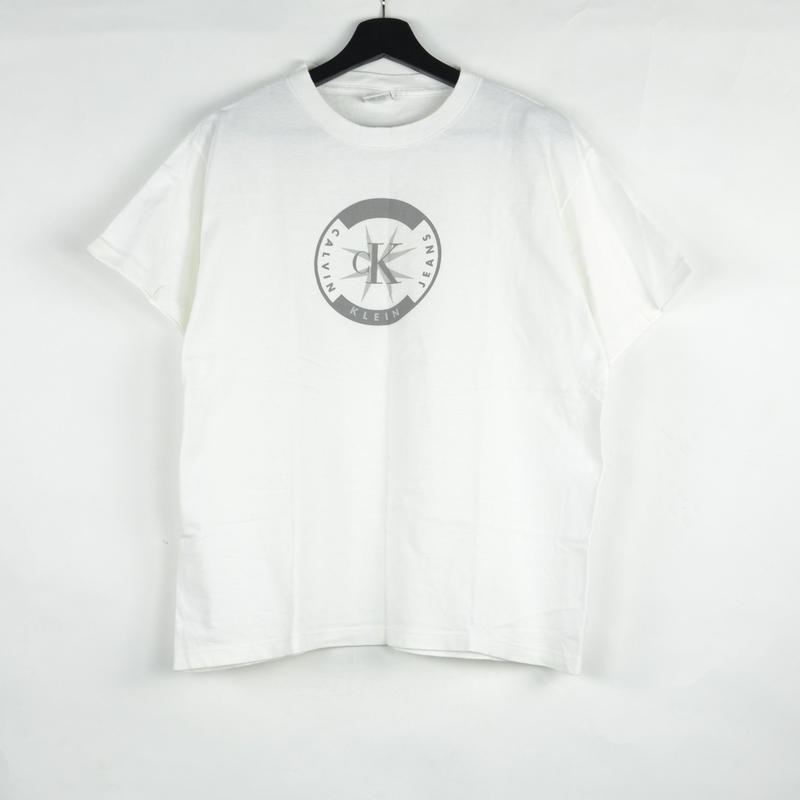 CALVIN KLEIN / S/S T-SHIRTS(USED) COL:WHITE NO.52
