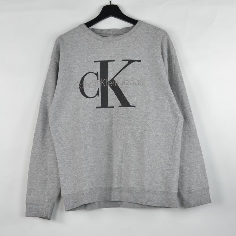 CALVIN KLEIN / CREW NECK SWEAT(USED) COL:GREY NO.42