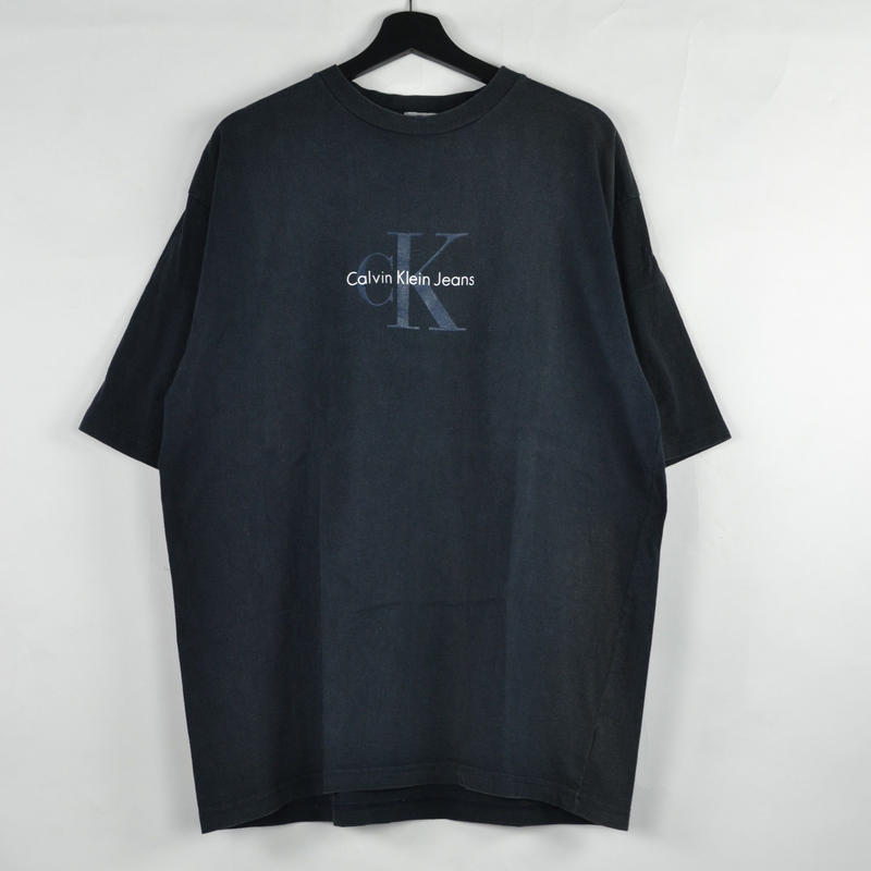 CALVIN KLEIN / S/S T-SHIRTS(USED) COL:BLACK NO.70