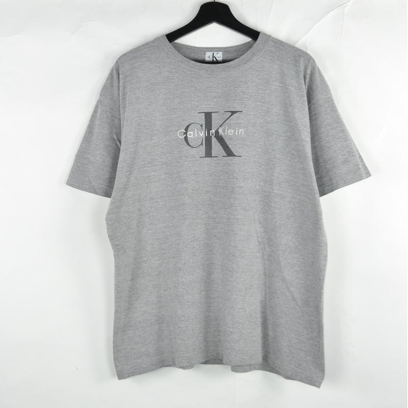 CALVIN KLEIN / S/S T-SHIRTS(USED) COL:GREY NO.55