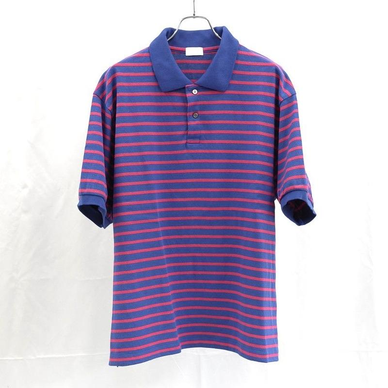 URU TOKYO / COTTON BORDER POLO SHIRTS COL:BLUE×RED
