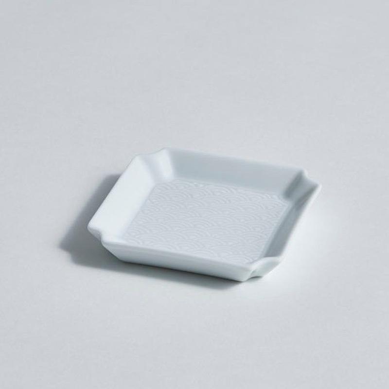 青海波角皿(小)