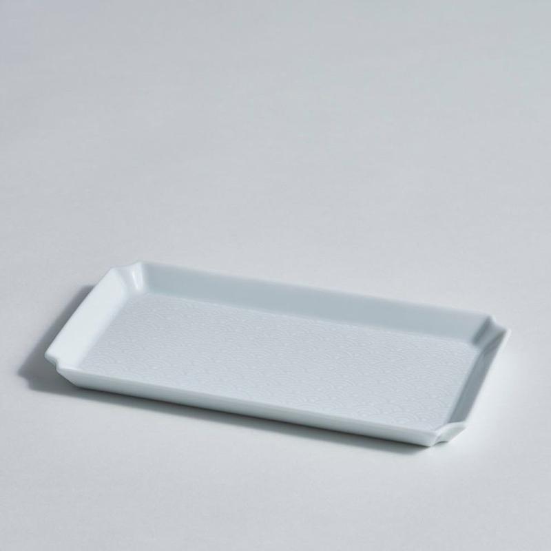 青海波角皿(中)