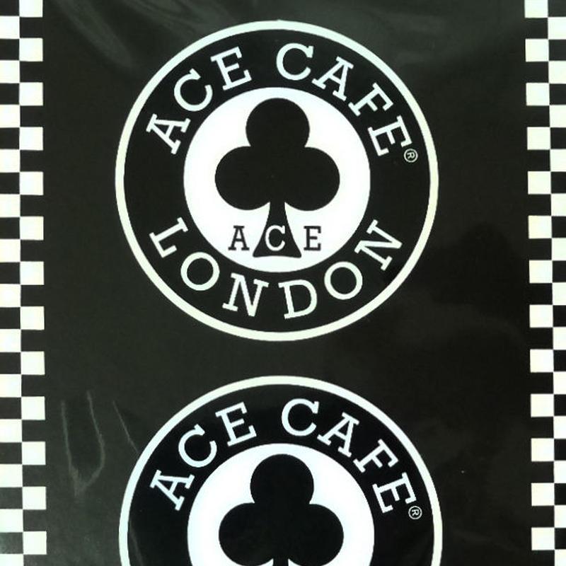 N004DE/ACE CAFE LONDON デカール ステッカー ラウンド 50mm(2枚入)