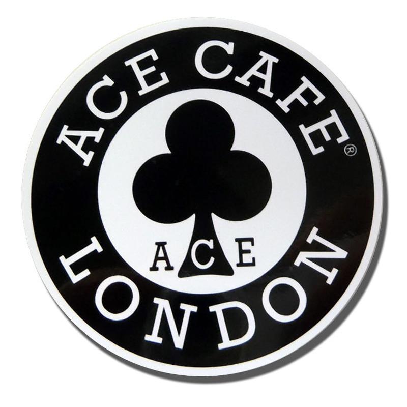 N001DE/ACE CAFE LONDON デカール ステッカー ラウンド 80mm