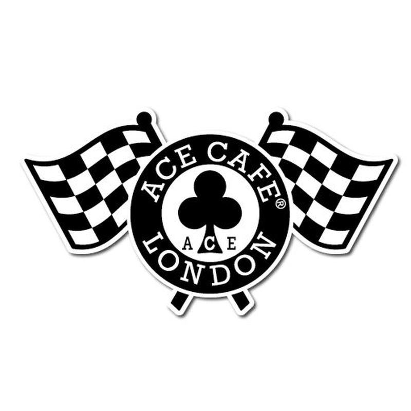 N010DE/ACE CAFE LONDON デカール チェッカーフラッグ