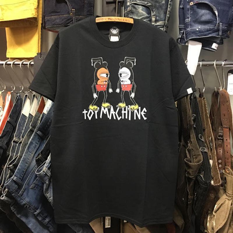 (トイマシーン)toy machine クレイジーミッキー マウスケーター MOUSEKETTER Tシャツ (TMJ18ST1-BK)