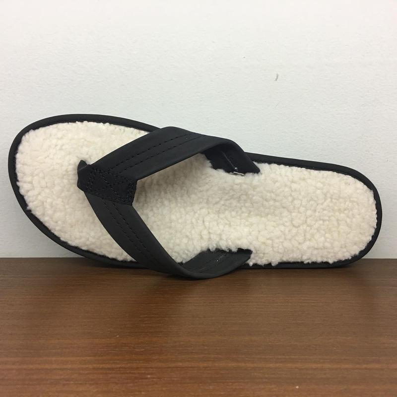(レインボーサンダル)RAINBOW SANDALS 日本別注モデル The Cozy - Fleece Lined Sandals レザーフリース サンダル (601F-PBLK)