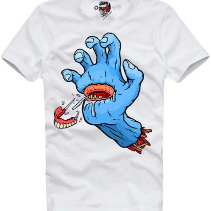 (イーワンシンジゲート)e1syndicate サンタクルーズ パロディ スケート・バンド・ロック Tシャツ(SPEND/RUDE/スペンド/ルード風)