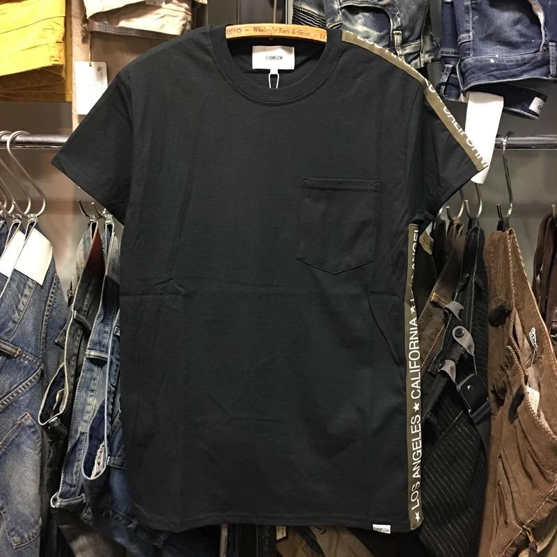 (イーブンフロウ)EVENFLOW LA-CA LINE ラインTシャツ (EF-901-BK)