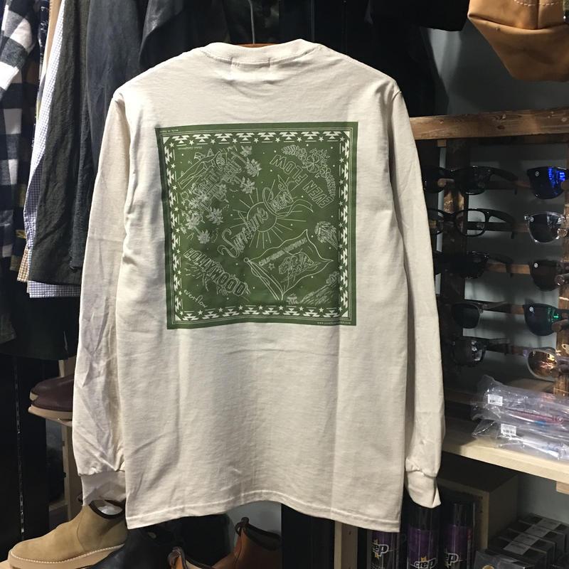 (イーブンフロウ)EVENFLOW BANDANA L/S TEE バンダナ柄 長袖Tシャツ ロンティー (EFL-1004-SAND)