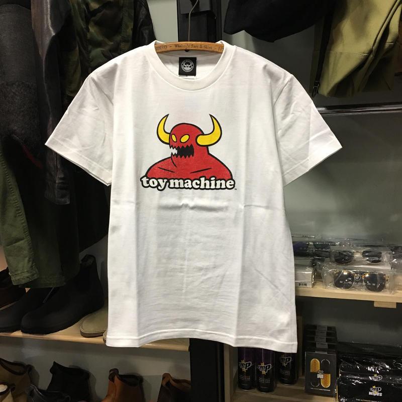 (トイマシーン)toy machine '19年春夏新作 TOY MONSTER トイモンスター ロゴ 半袖Tシャツ (TMS19ST10-WH)