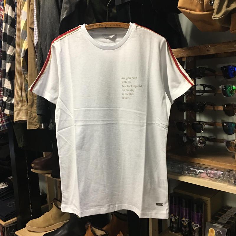 (センス) SSEINSE ラインパイピング 半袖Tシャツ(セットアップ可) (ME1274SS-WH)