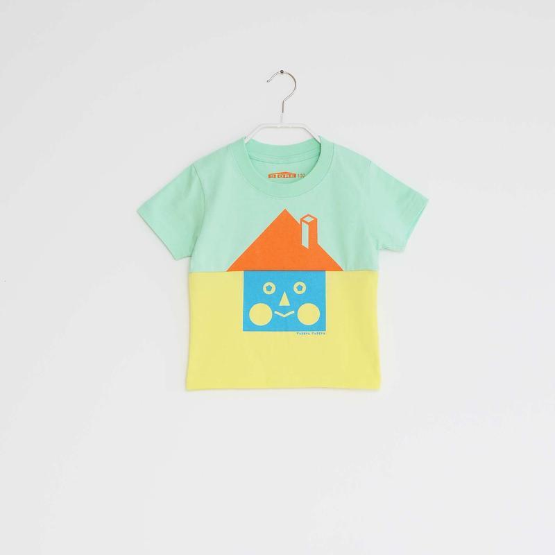 KIDS / tupera tupera ×STORE 家 T -シャツ  / 柄・ベーシックハウス・ col・メロン×レモン