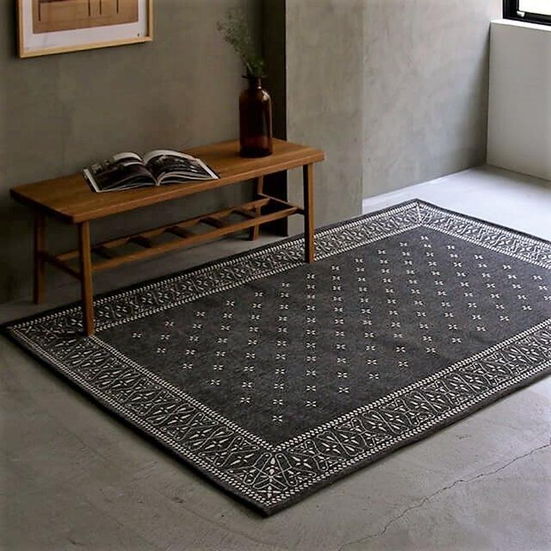 Cross bandana rug GRAY