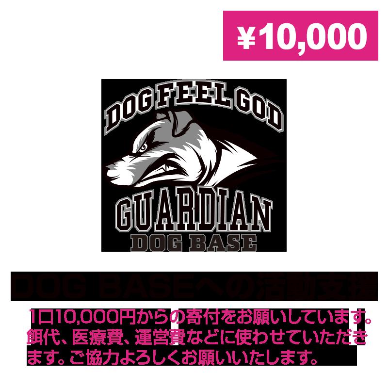 DOG BASEへの活動支援(寄付)10000円〜