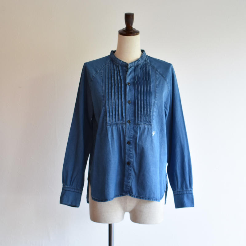 FIL DE FER/5.5OZデニムピンタックシャツ