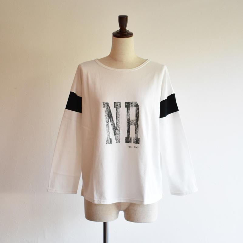 NOMBREIMPAIR/NR プリント 袖切り替えプルオーバー