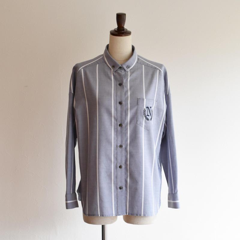NOMBRE IMPAIR/オックスストライプ ボタンダウンシャツ