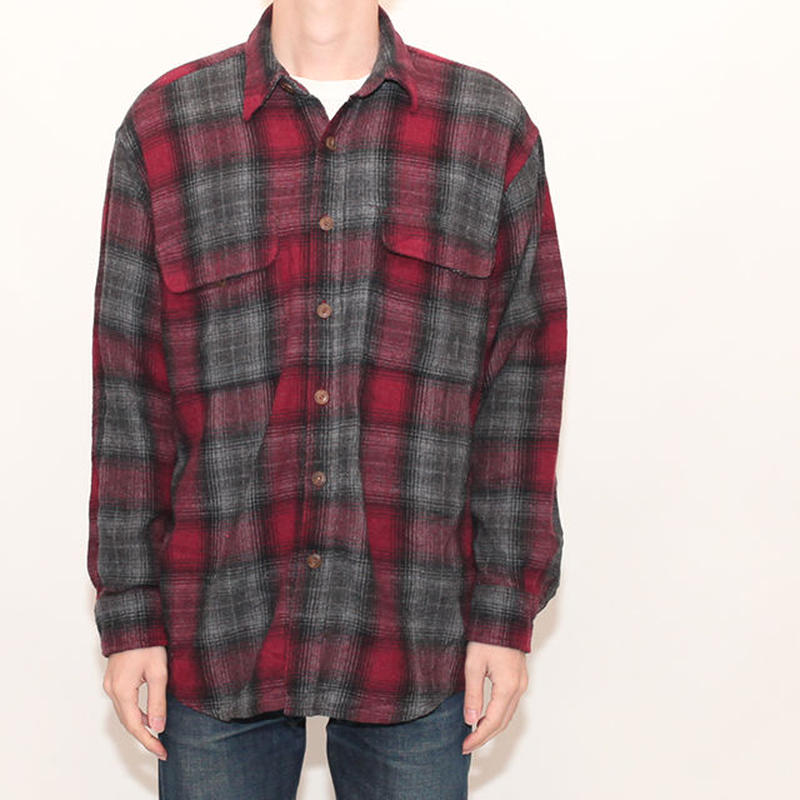 Ombre Check  L/S Shirt