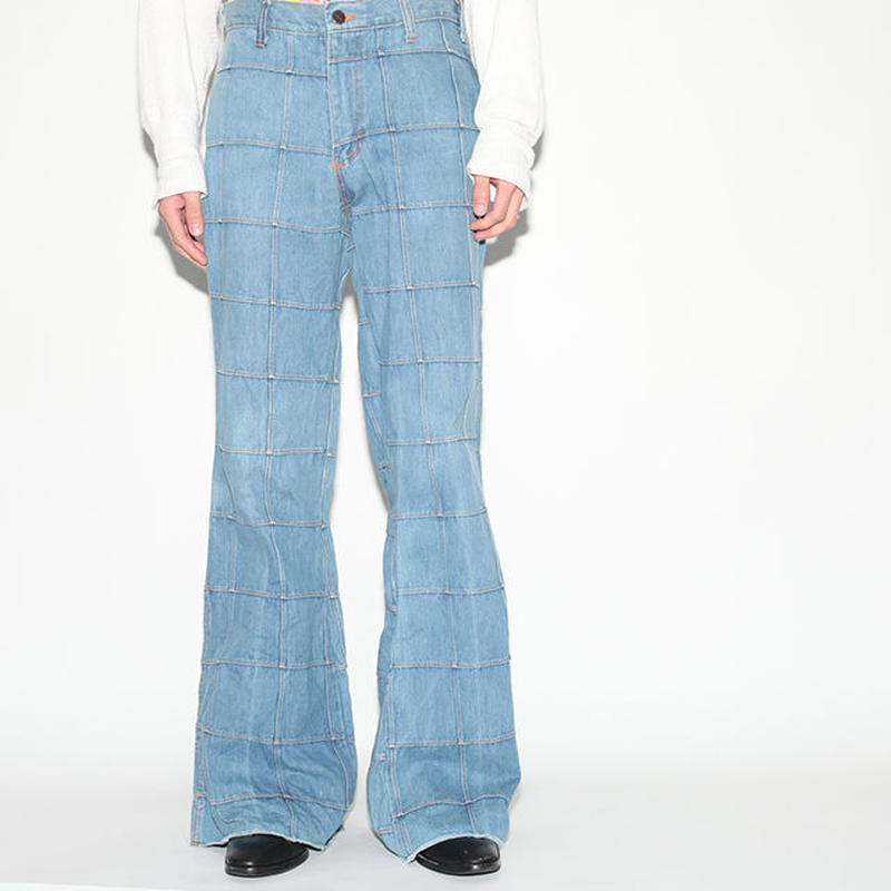 Patchwork Denim Pants