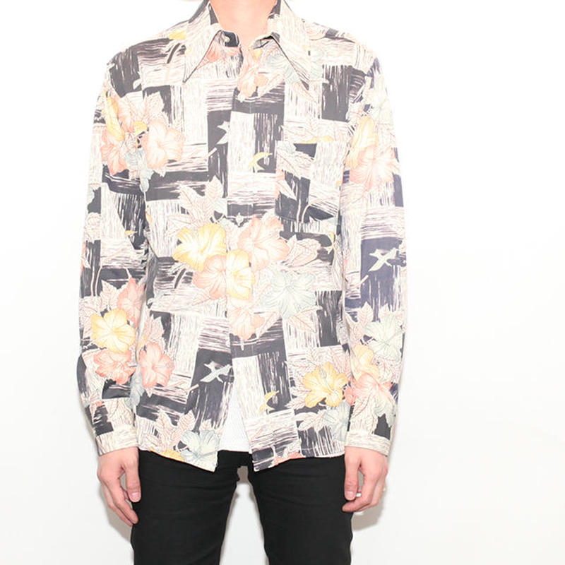 Flower Pattern L/S Shirt