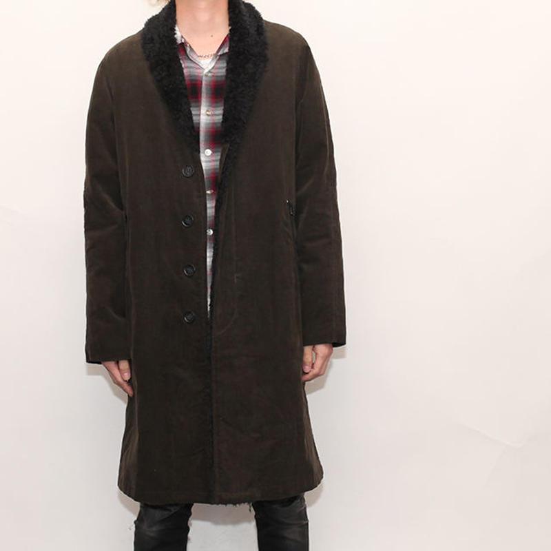 Corduroy Boa Coat