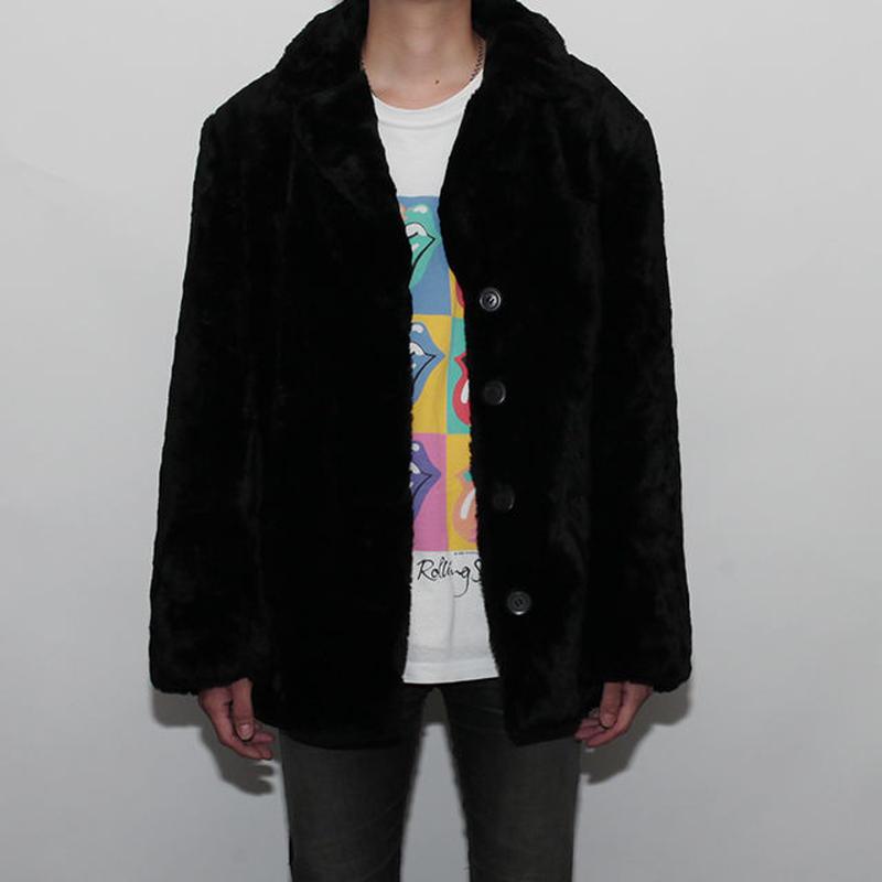 Black Fake Fur Jacket