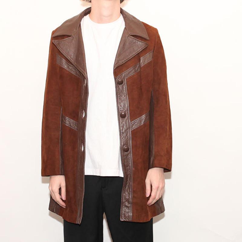 70s Leather Coat