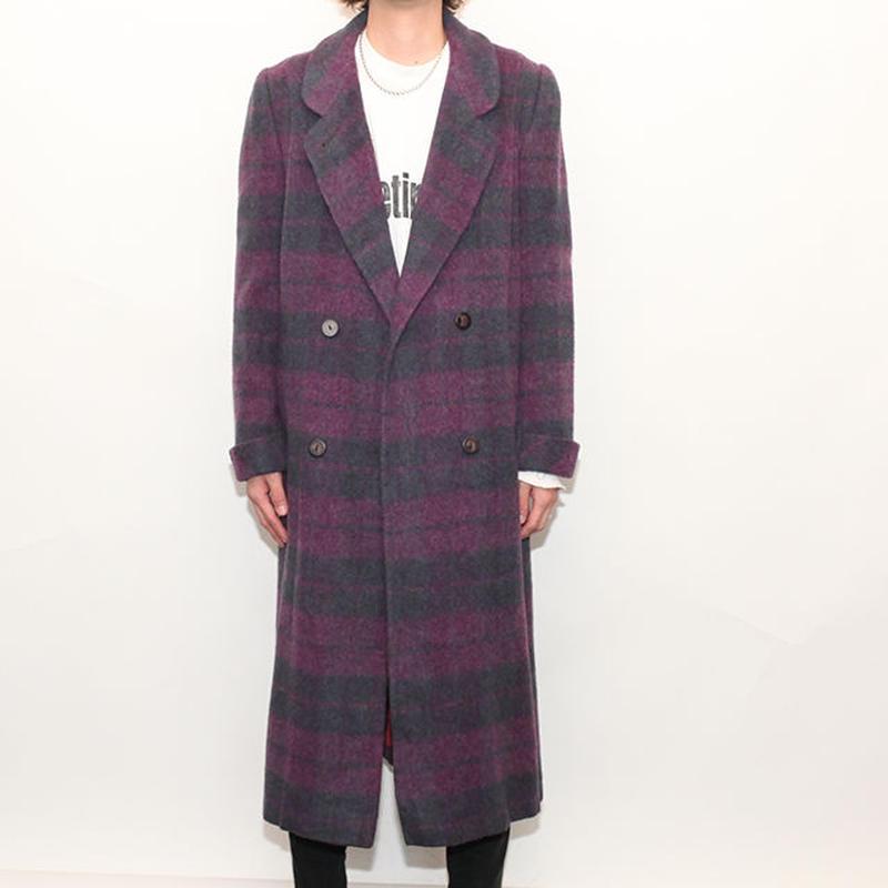 Border Wool Coat