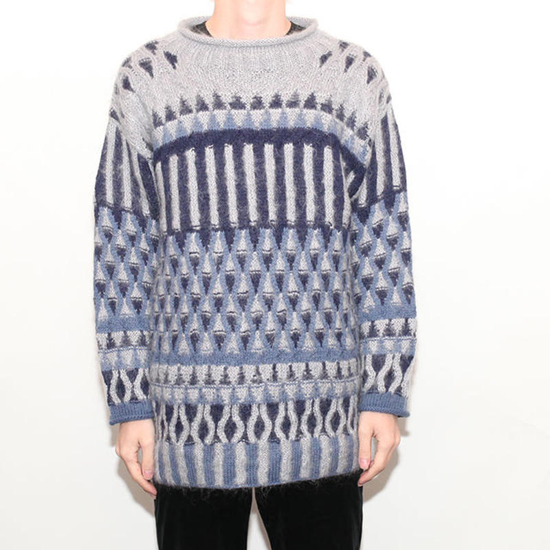 Vintage Geometick Wool Sweater