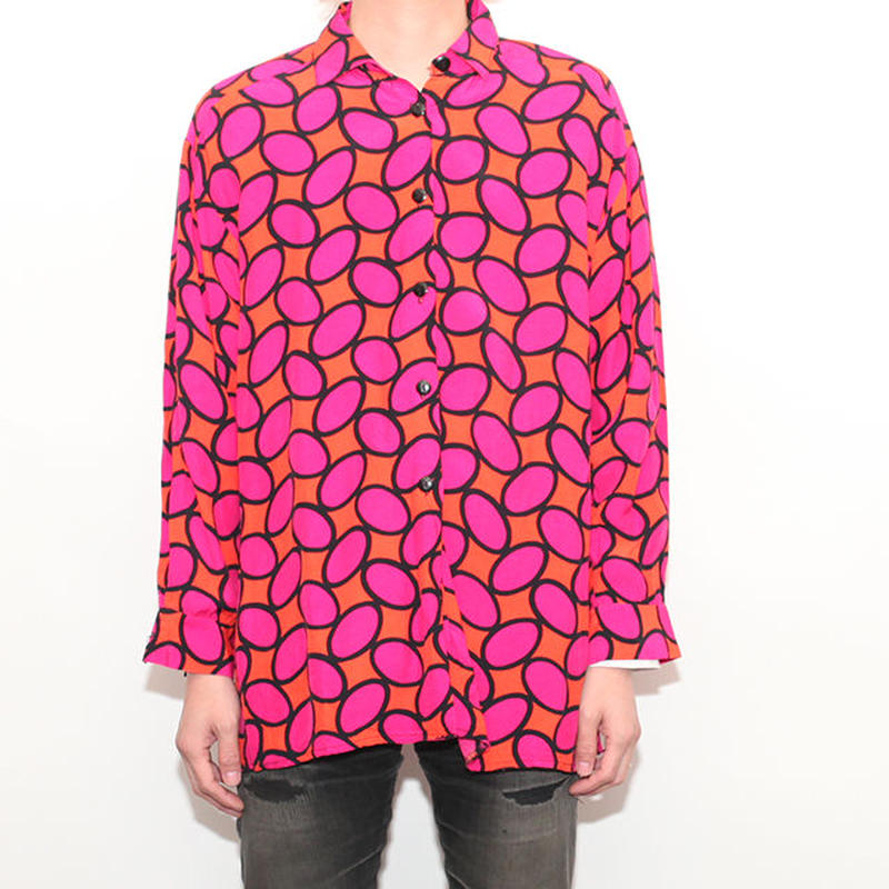 Rayon Dot Pattern Shirt