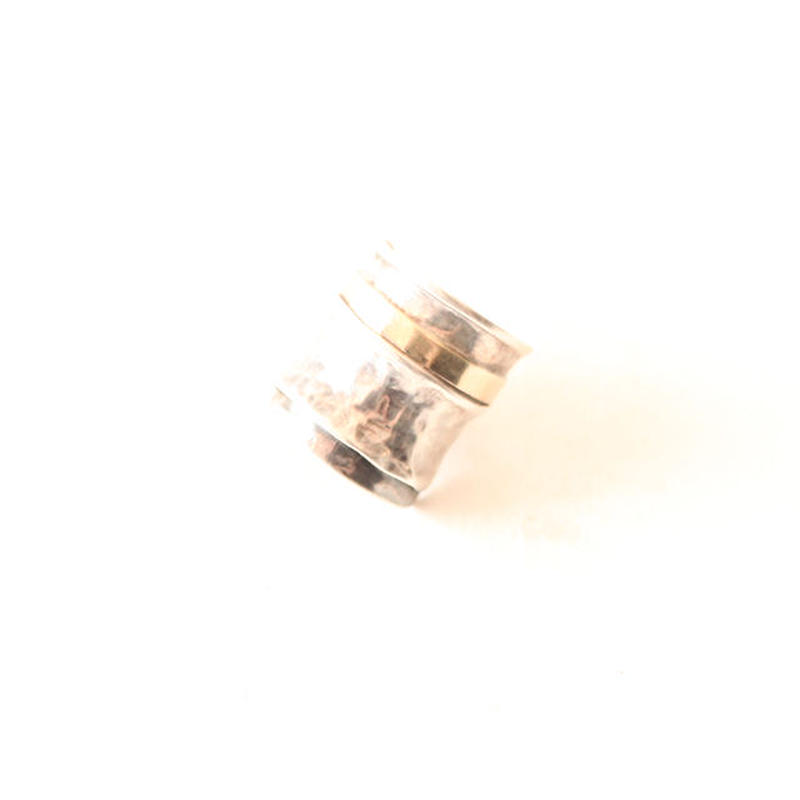 Vintage Silver Ring With 14K