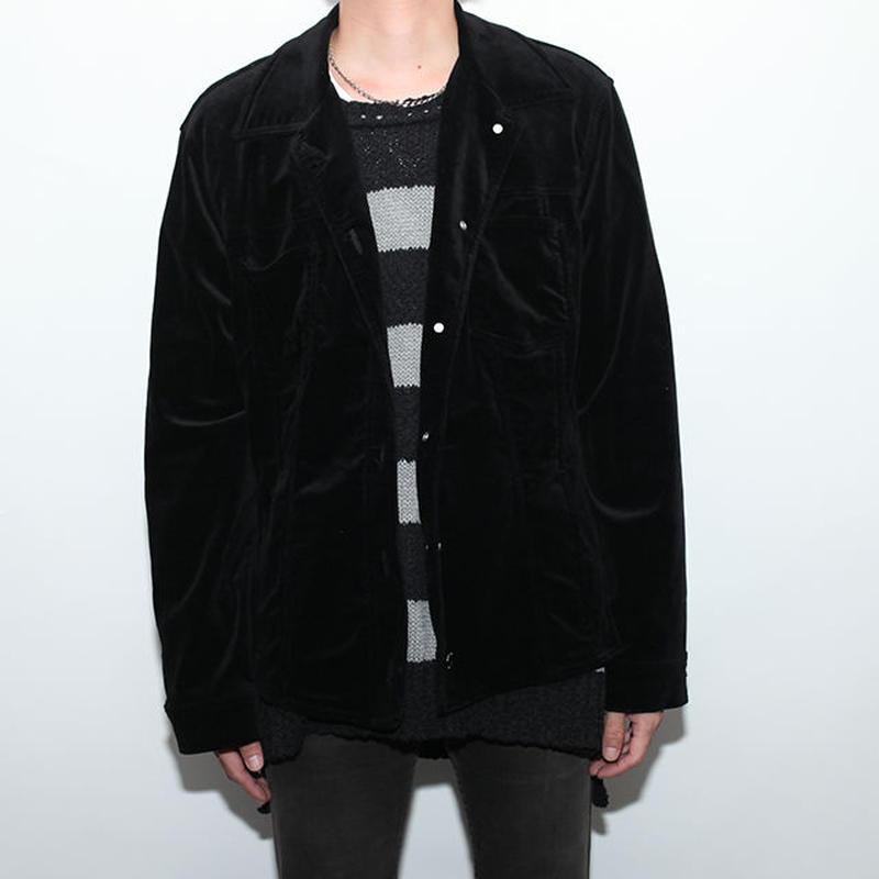 Black Velvet Trucker Type Jacket