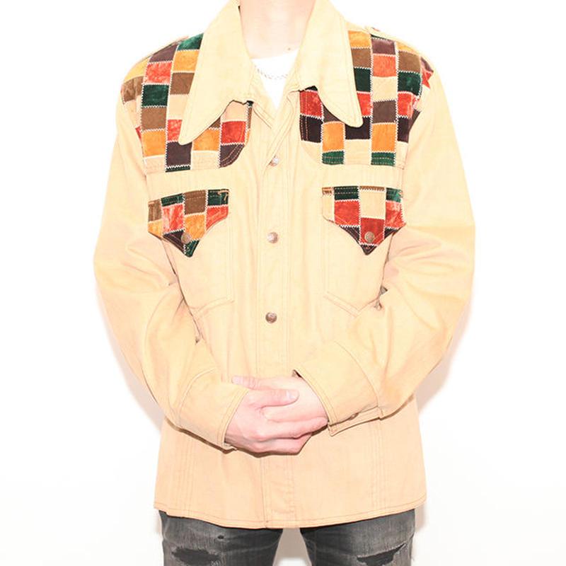 Patchwork Shirt Jacket