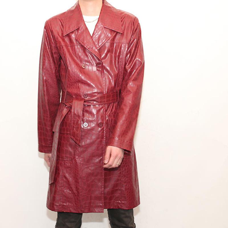 Fake Leather Coat