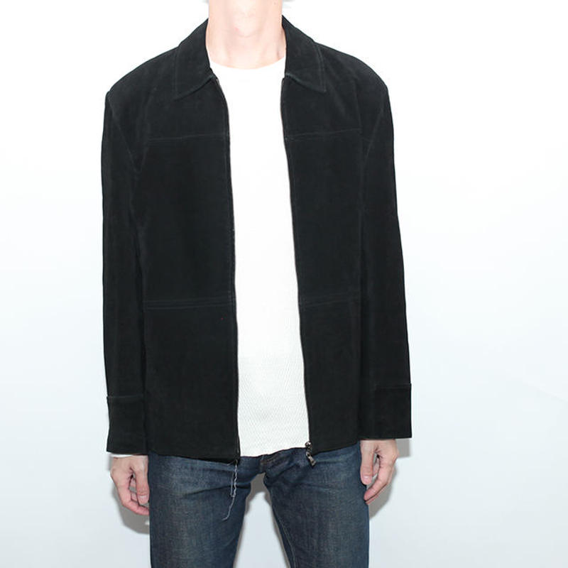 Black Suede Leather Jacket
