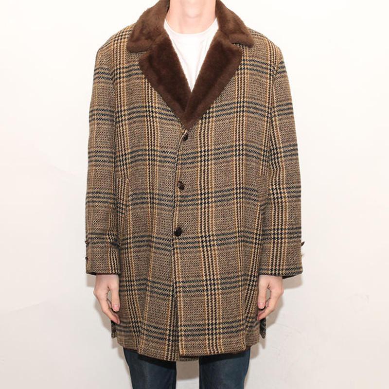 Vintage Wool Check Coat