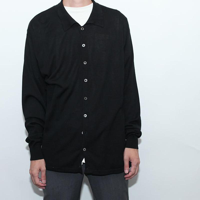 Silk Shirt Cardigan