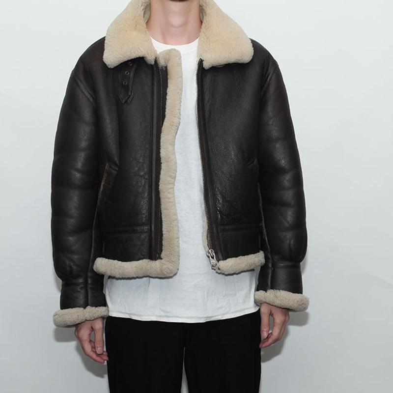 Vintage B-3 Mouton Leather Jacket