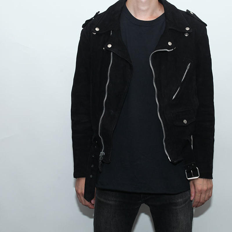 Suede double Leather Jacket