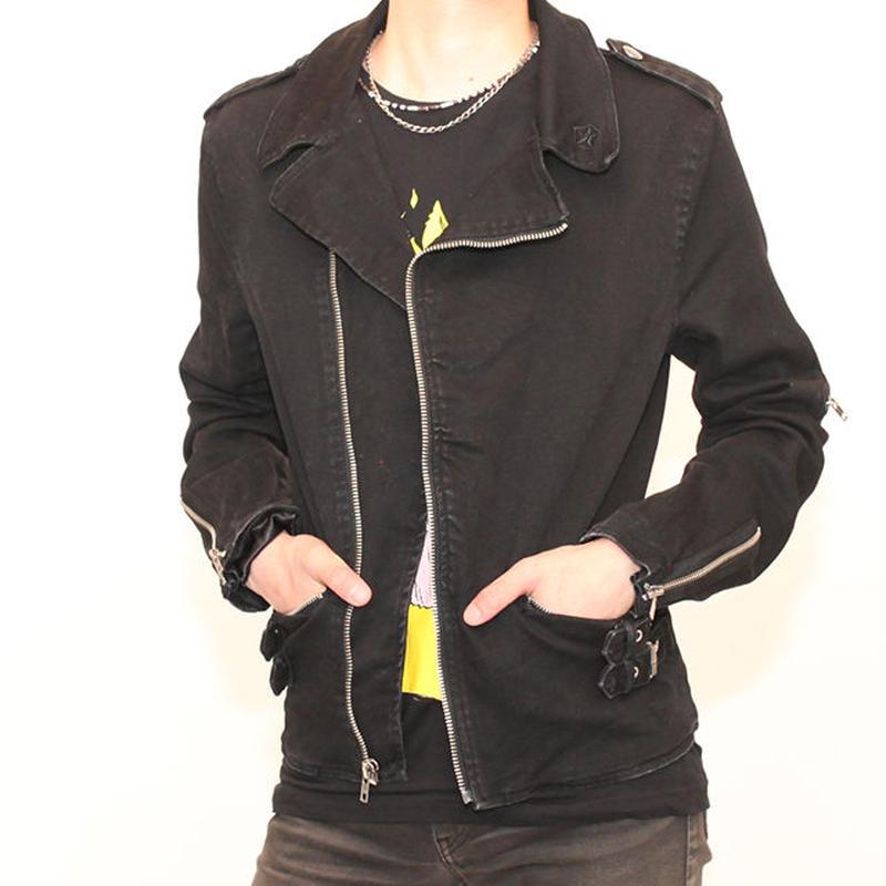 Black Denim Riders Jacket