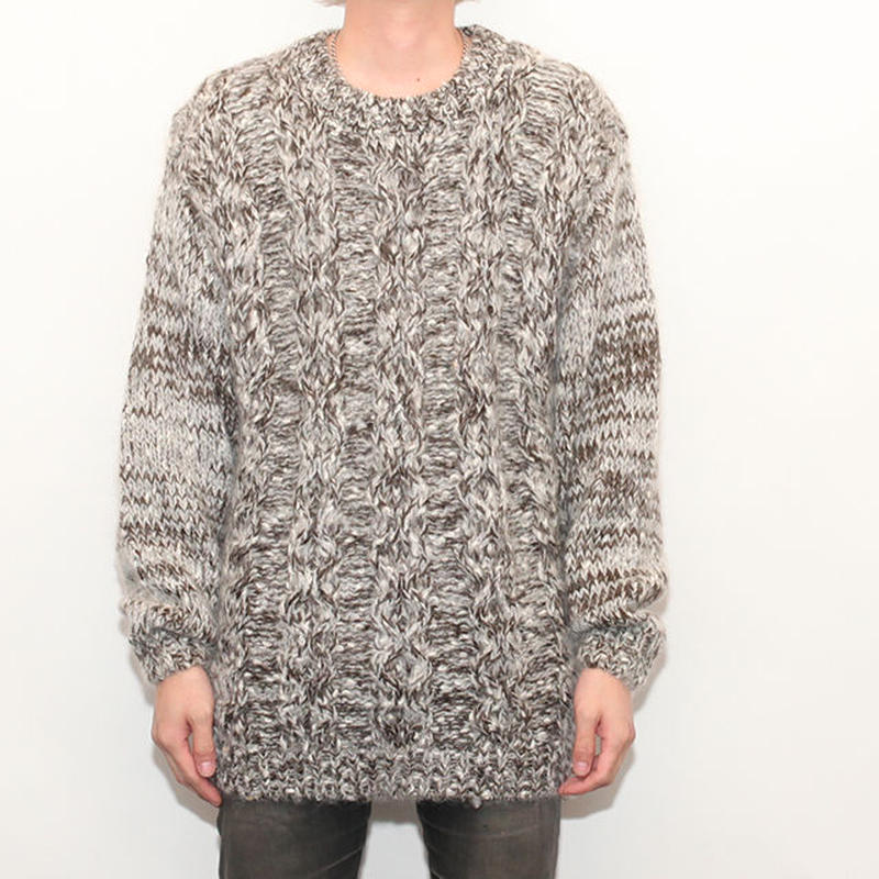 Cable Knit Sweater Marble