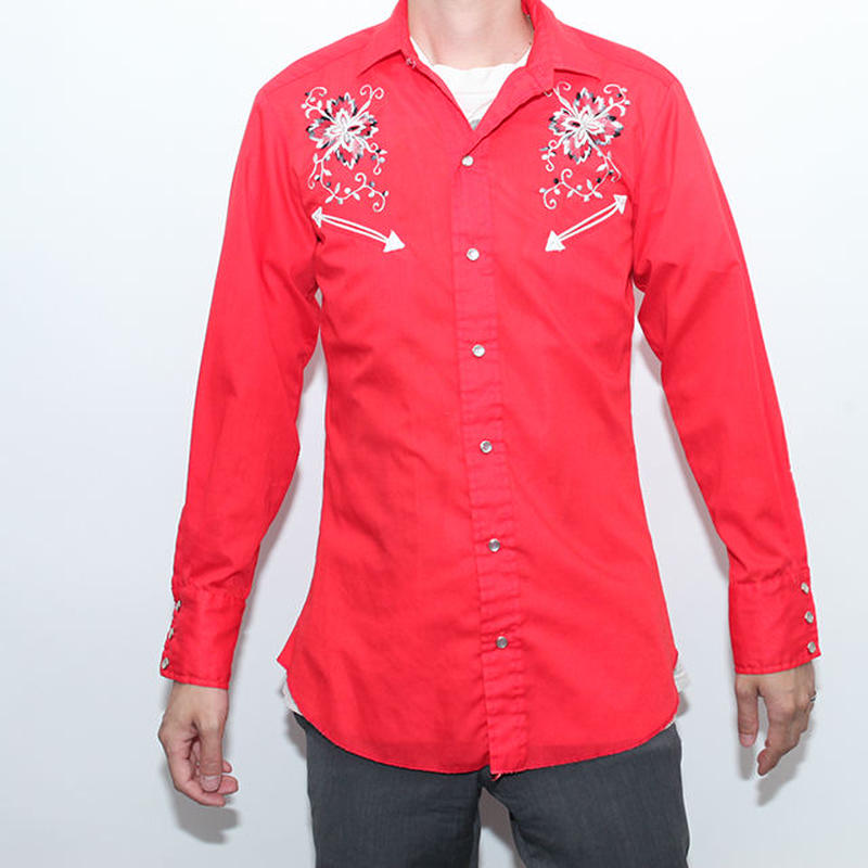 Embroidary L/S Western Shirt