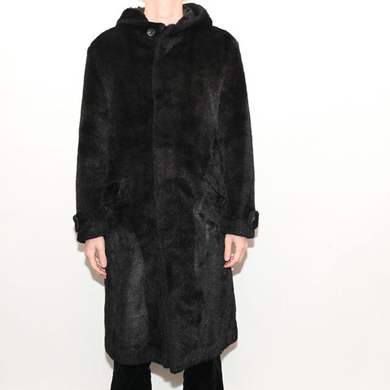 Fake Fur Hooded Coat