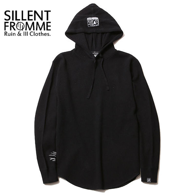 NORM -Waffle Pullover- / BLACK