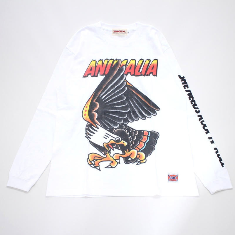 "ANIMALIA ロンT ""EAGLE L/S"" / WHITE"
