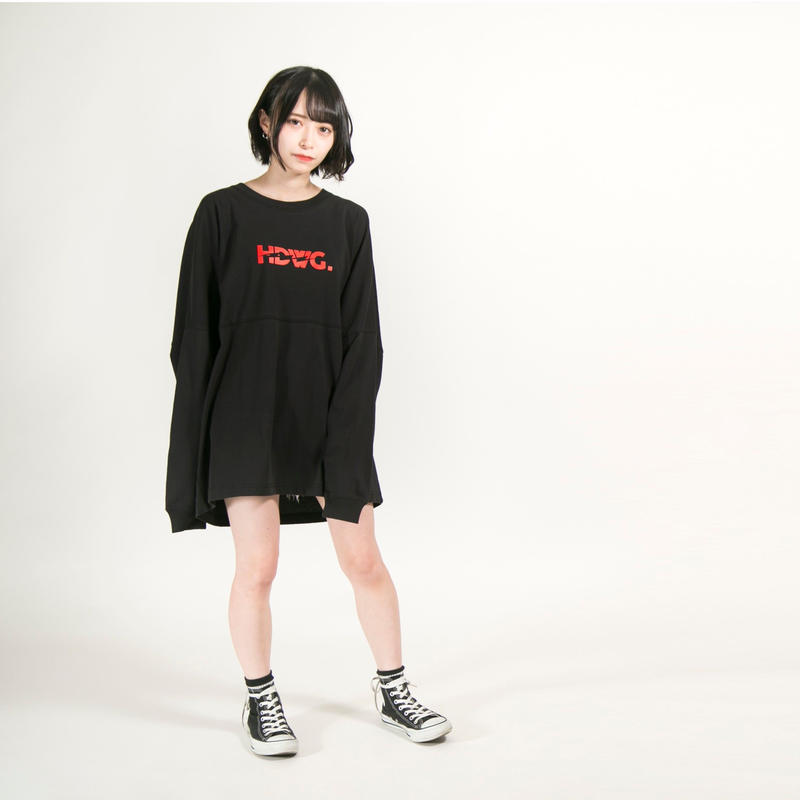 "HEDWiNG ロンT ""Kaminari"" Long Sleeve T-shirt / BLACK"