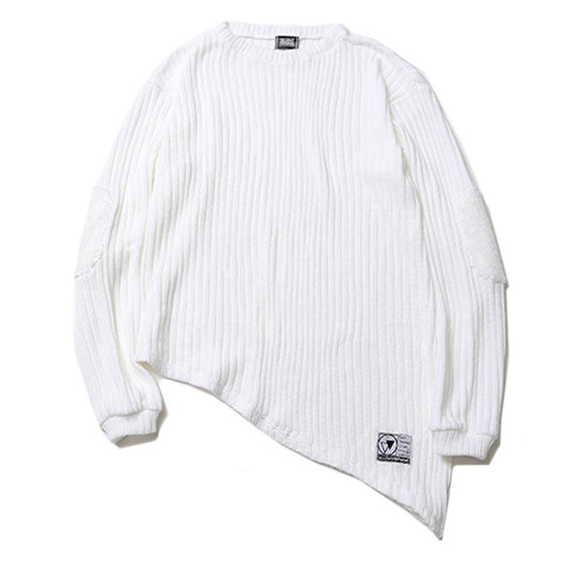"SILLENT ニットセーター ""GHOST -Asymmetry Knit Sweater-"" / WHITE"