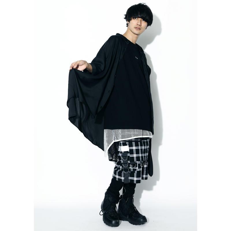 SILLENT シャツ LAX -Hemline Half Sleeve Shirts- / BLACK